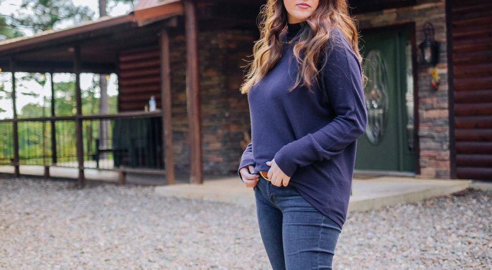 Cabin Fever: A Cozy Fall Sweater + Affordable Belt Trend