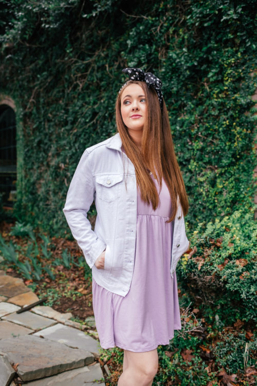 Little Lavender Dress + A Spring/Summer Trend You Need To Try! (Head Scarfs!)